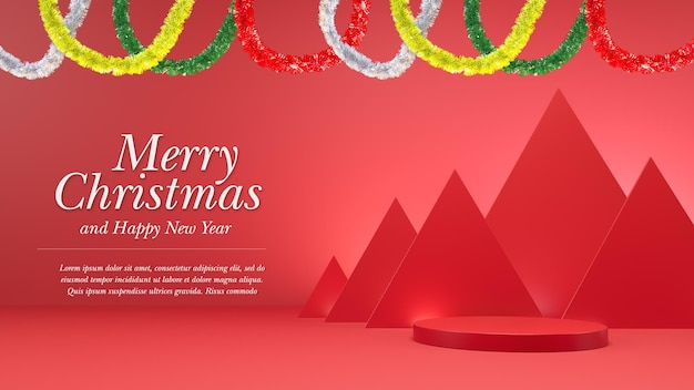 Makieta renderowania świąt i nowego roku