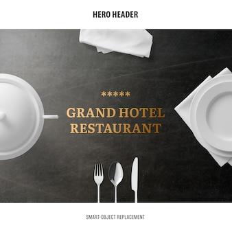 Makieta restauracji nagłówka.