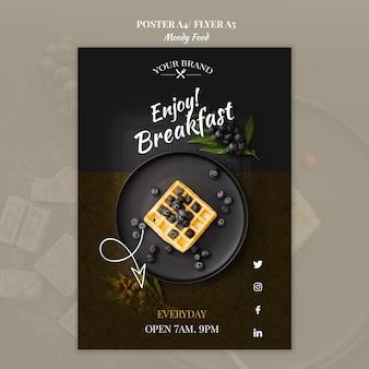 Makieta restauracji plakat nastrojowe jedzenie koncepcja