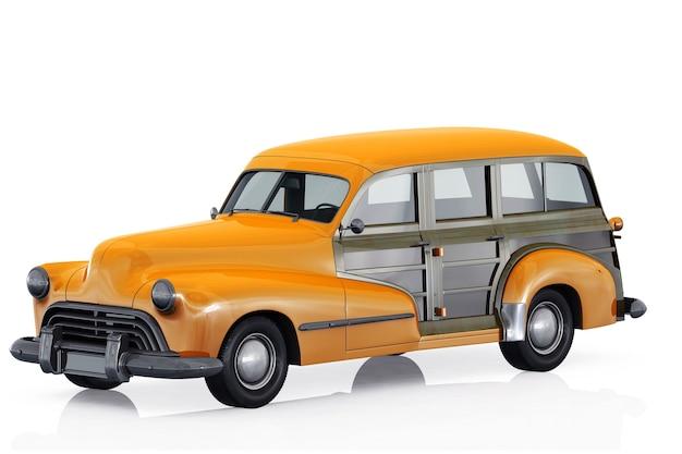 Makieta retro kombi samochodu 1947
