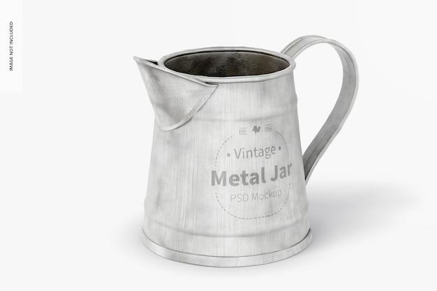 Makieta rocznika metalowego słoika