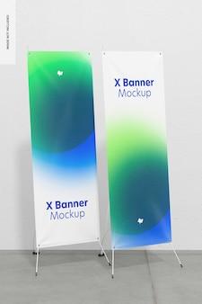 Makieta roll-up lub x-banner, widok z prawej strony