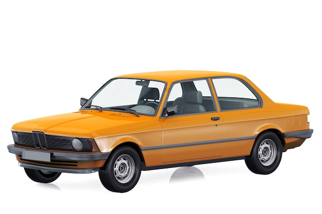Makieta samochodu retro coupe
