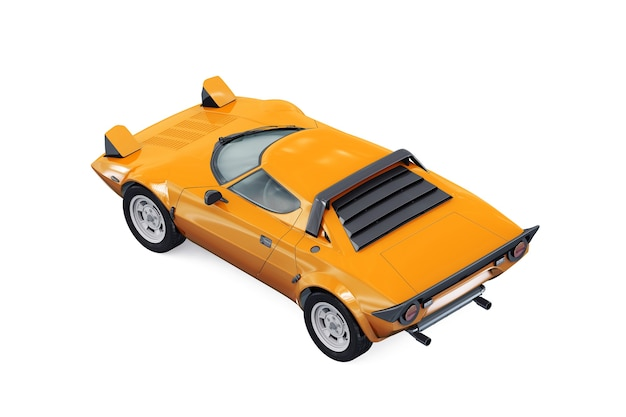 Makieta samochodu retro sportu