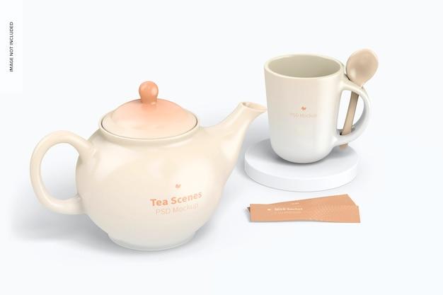 Makieta sceny herbaty