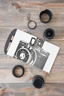 Makieta schowka z koncepcją fotografii