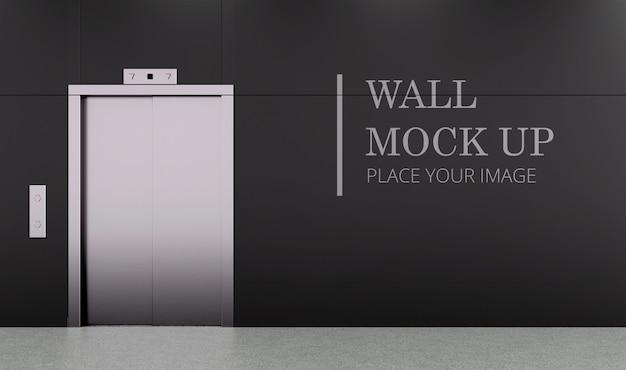 Makieta ściany bocznej windy