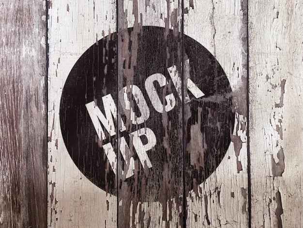 Makieta ściany drewniane grunge
