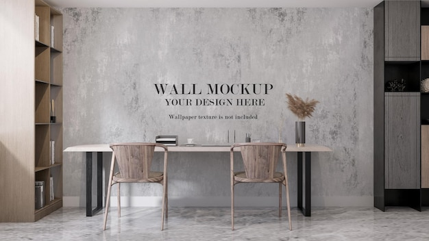 Makieta ściany nowoczesnego gabinetu renderowania 3d