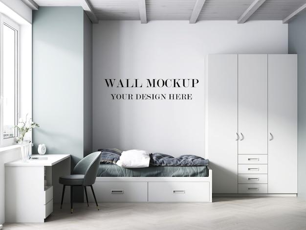 Makieta ściany pokoju nastolatka renderowania 3d