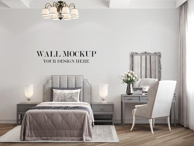 Makieta ściany sypialni w stylu wiejskim