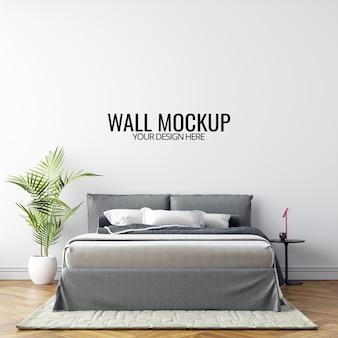 Makieta ściany sypialni wewnętrznej