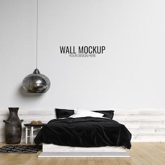 Makieta ściany wewnętrzne sypialni tło