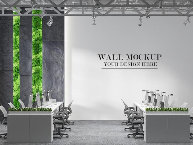 Makieta ściany wewnętrznej biura otwartej przestrzeni