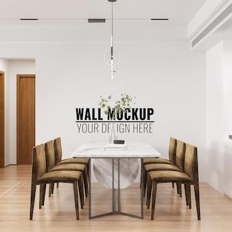 Makieta ściany wewnętrznej jadalni - renderowanie 3d
