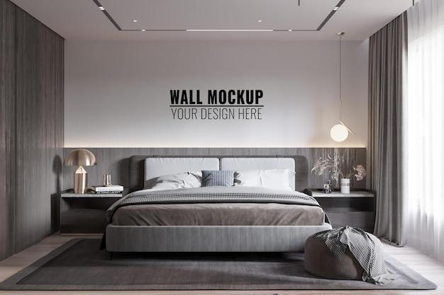 Makieta ściany wewnętrznej nowoczesnej sypialni