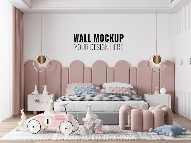 Makieta ściany wewnętrznej sypialni dzieci