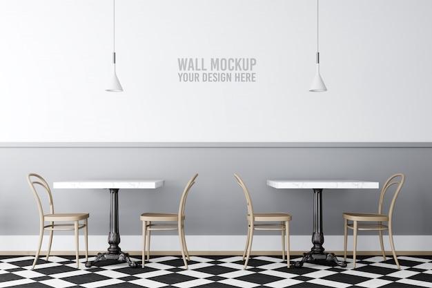Makieta ściany wnętrza kawiarni