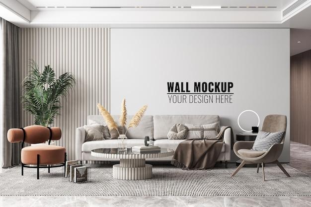 Makieta ściany Wnętrza Nowoczesnego Salonu Darmowe Psd
