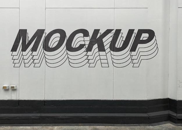 Makieta ściany z cementu ulicznego