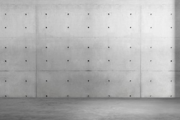 Makieta ścienna do pokoju przemysłowego psd w betonie