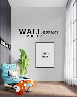 Makieta ścienna i ramowa - pokój ma nowoczesny styl