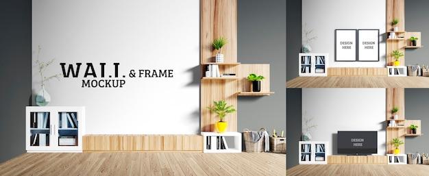Makieta ścienna i ramowa - w pokoju znajdują się drewniane meble