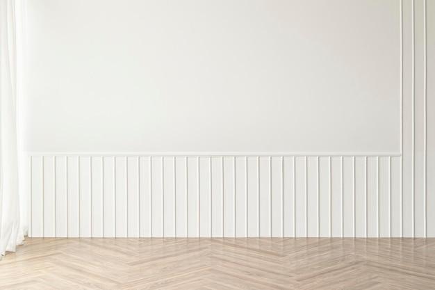 Makieta ścienna pustego pokoju psd minimalistyczny wystrój wnętrz