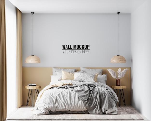 Makieta ścienna we wnętrzu sypialni