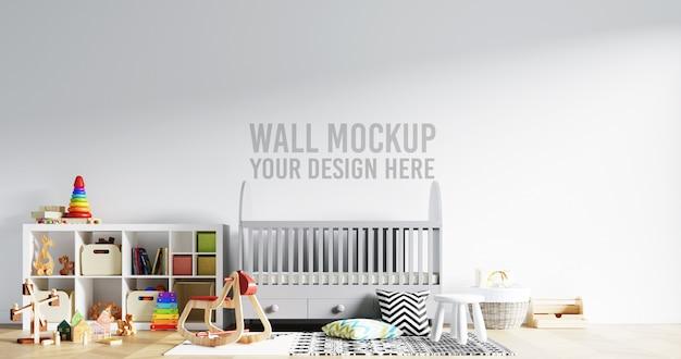 Makieta ścienna wnętrze pokoju dziecięcego z dekoracjami