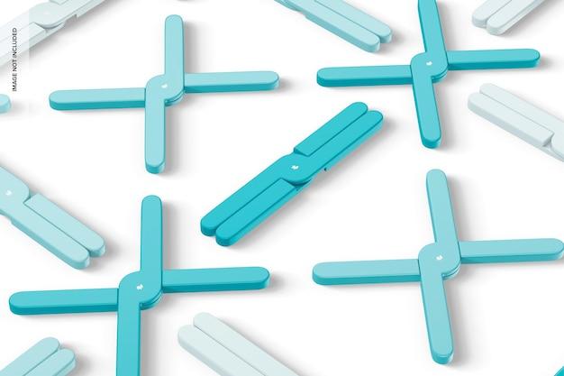 Makieta silikonowych trójników składanych