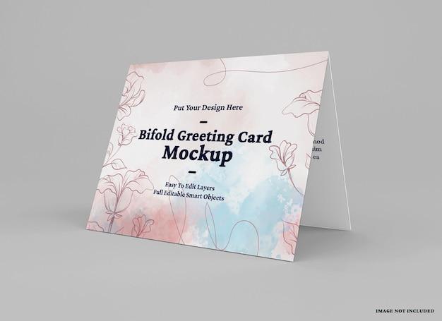 Makieta składanej karty z pozdrowieniami