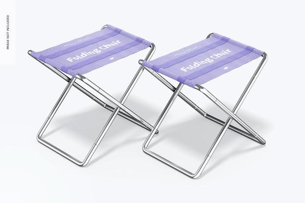 Makieta składanych krzeseł, prawy widok