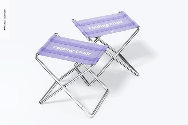 Makieta składanych krzeseł, widok z lewej