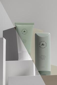 Makieta składu kosmetyków marki beauty
