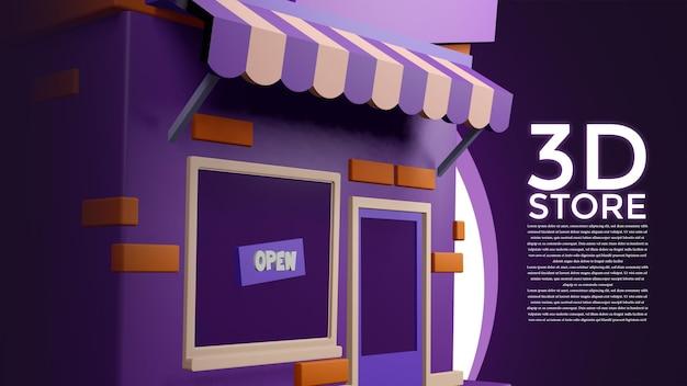 Makieta sklepu 3d ze wszystkich kierunków