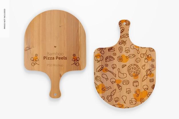 Makieta skórek do pizzy z bambusa