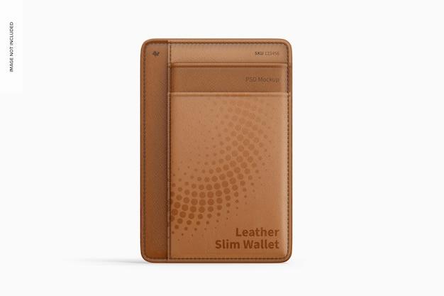 Makieta skórzanego cienkiego portfela