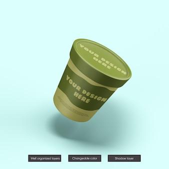 Makieta słoika lodów w renderowaniu 3d