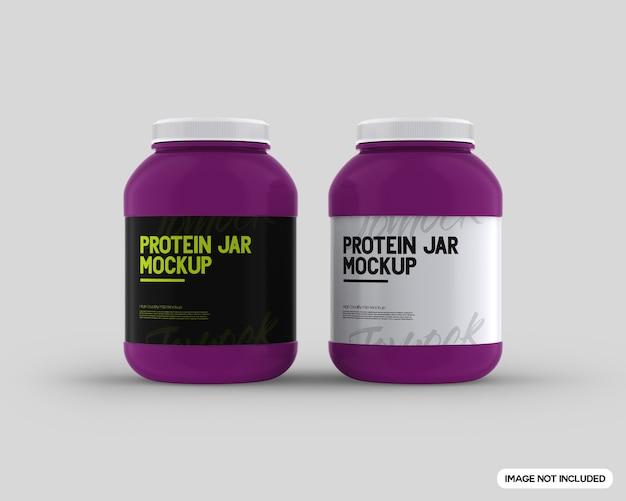Makieta słoika proteinowego