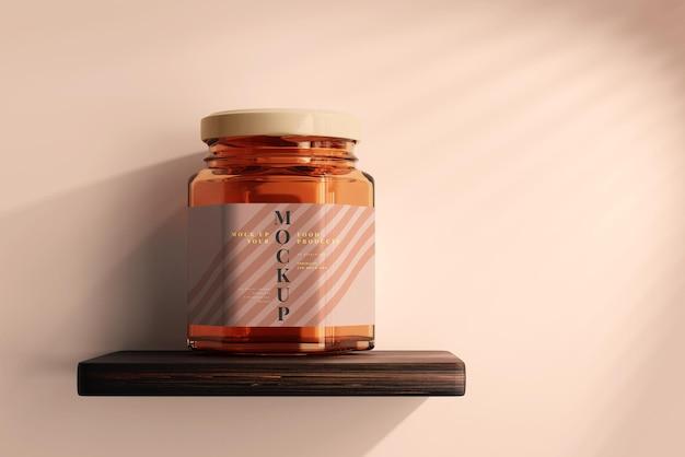 Makieta słoika z bursztynowego szkła