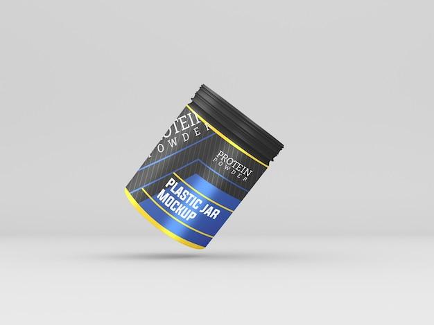 Makieta słoika z proszkiem białkowym