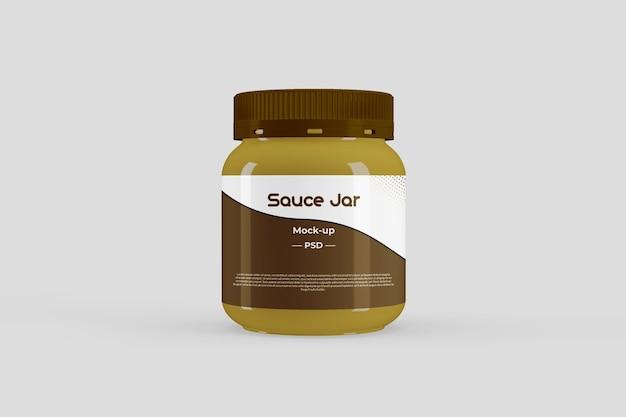 Makieta słoika z sosem