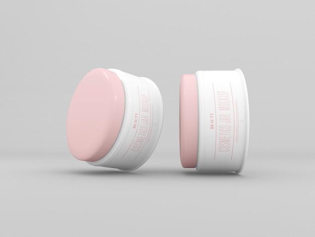 Makieta słoików kosmetycznych kremów