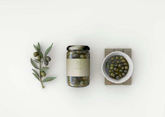 Makieta słoików oliwek