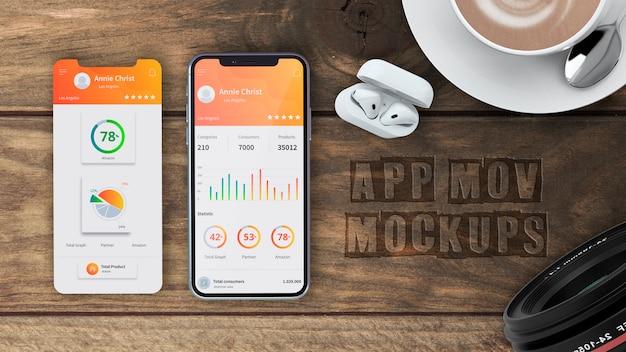 Makieta smartfona dla aplikacji