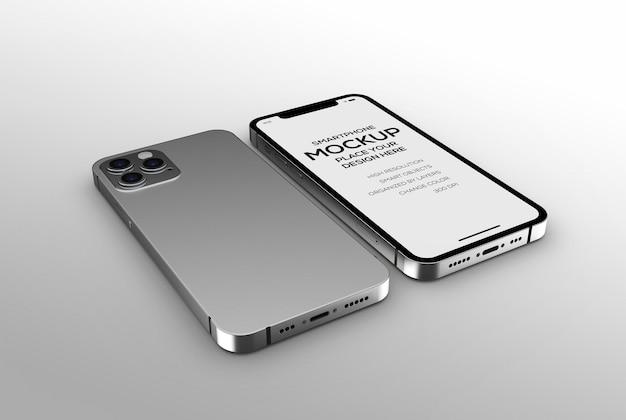 Makieta smartfona do brandingu i prezentacji reklamowych
