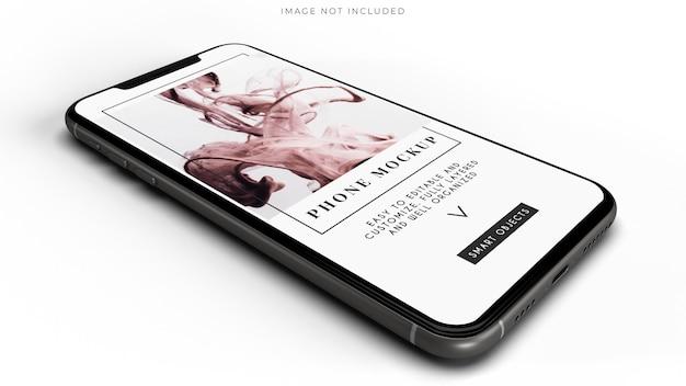 Makieta smartfona do identyfikacji marki