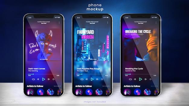Makieta smartfona do wyświetlania aplikacji