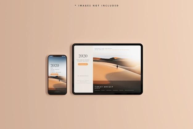 Makieta smartfona i tabletu